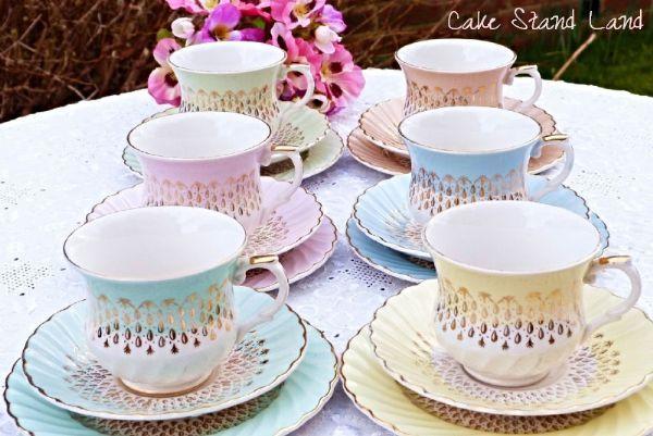 Oh So Adorable Vintage Tea Set : HARLEQUIN Vintage tea set James Kent 5% OFF everything today http ...