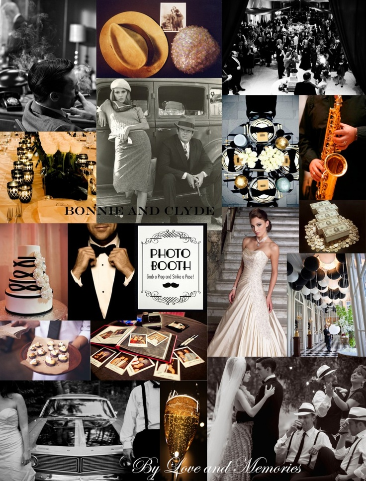 Bonnie and clyde theme moodboard by love memories