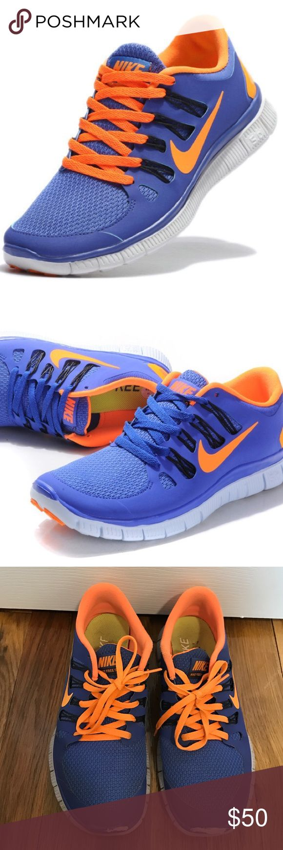 Women's Nike Free 5.0 Purple & Orange Nike Free 5.0 Women's Sneakers. There is some scuffing on the front of the sneakers but other than that in great condition! Nike Shoes Athletic Shoes