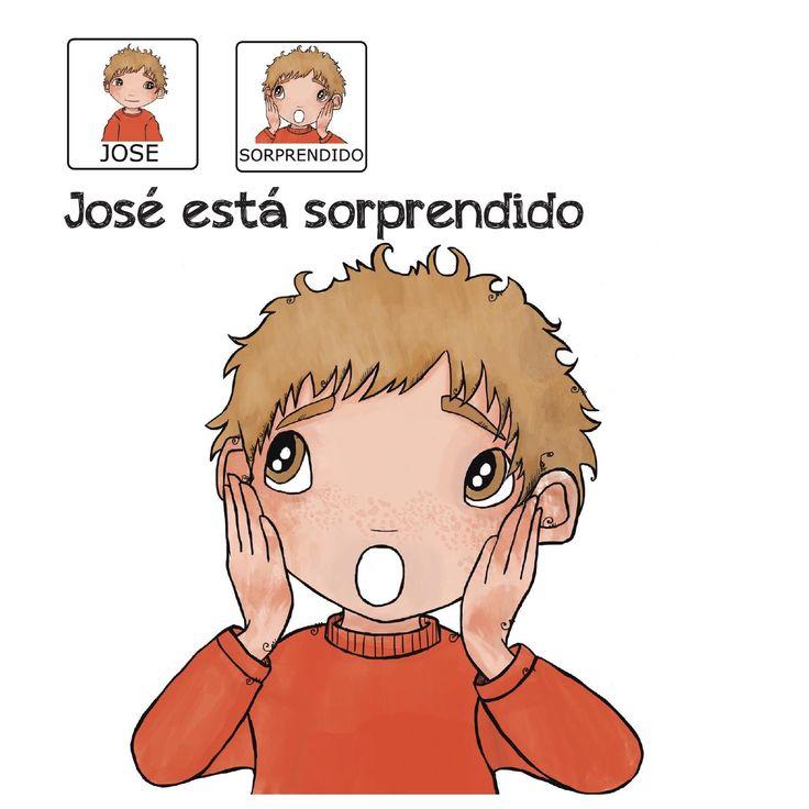 """""""José está sorprendido"""" - Proyecto sin ánimo de lucro que consiste en la creación, producción y difusión de cuentos infantiles adaptados a pictogramas para niños con autismo y otras necesidades especiales de aprendizaje, http://www.aprendicesvisuales.com/cuentos/"""