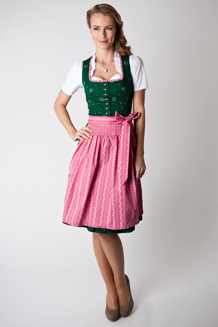 dirndl jade gr n rosa online shop ludwig und therese. Black Bedroom Furniture Sets. Home Design Ideas