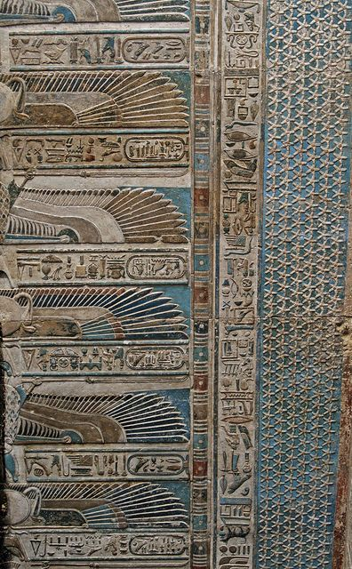 Ceiling at Dendera Temple, #Egypt #amazing work of #Art