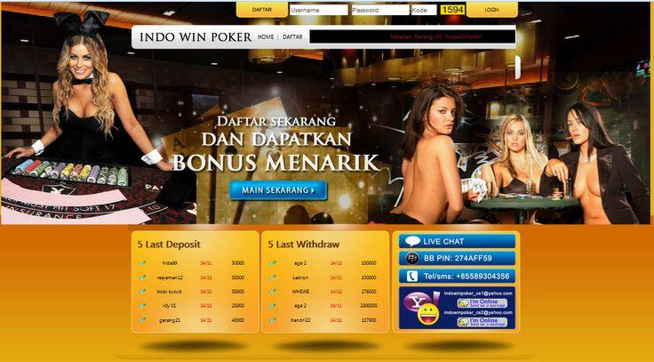 indowinpoker.com tempat atau penyedia permainan texas poker secara real money, minimal deposit Rp. 25.000,- Support BCA, BNI, Bank Danamon dan Bank Mandiri.