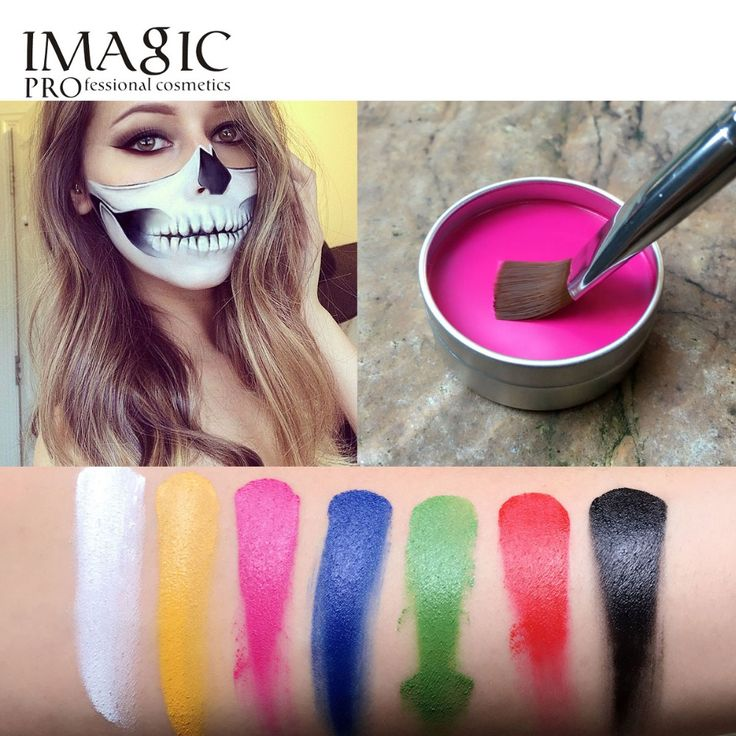 IMAGIC Face Painting  Flash Tattoo Face Body Paint Oil Painting Art Halloween Party Fancy Dress Beauty Makeup Face Paint Tools #clothing,#shoes,#jewelry,#women,#men,#hats,#watches,#belts,#fashion,#style