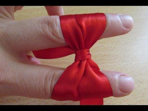 Make Simple Easy Bow, DIY, Ribbon Hair Bow, Tutorial, Bow #3 - YouTube