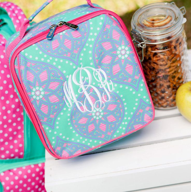 Marlee Lunch Kit - Girls Lunch Bag - Back to School - Monogram Lunch Kit - Insulated Lunch Bag - Personalized Lunch Bag - Cooler Tote - Gift by SerenityoftheSouth on Etsy #girls #monogram #lunch #kit #backtoschool #SummerCamp