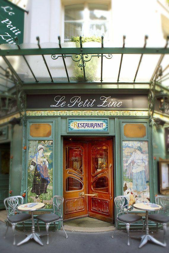 Le Petit Zinc Restaurant, Art Nouveau, Paris
