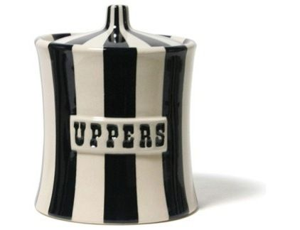 I would put candy in this...eclectic food containers and storage by Jonathan Adler