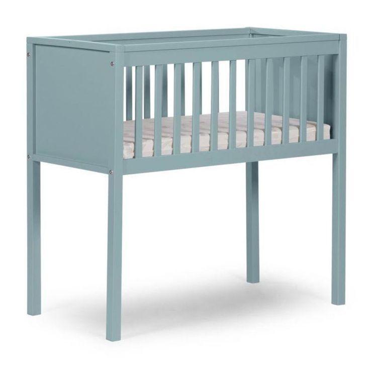 Baby Sleeping Crib Green Wooden Nursery Child Infant Toddler Comfortable Bed #BabySleepingCrib #Crib