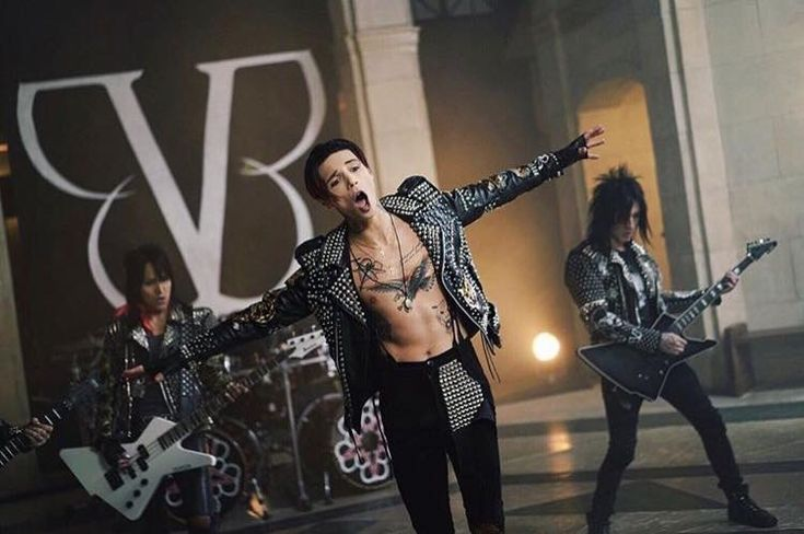 Andy Biersack. Ashley. Jake Pitts. Still from 'Wake Up' music video.