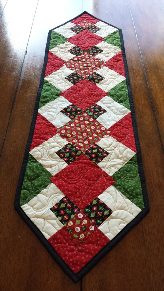 Christmas Sideboard or Table Runner 12 x 42 by SerenaBeanQuilts