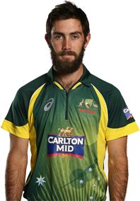 Glenn Maxwell    Role: Bowler    Bats: RHB    Bowls: OB    Date of Birth: 14 Oct 1988    Glenn Maxwell has gained worldwide fame since making his one-day international debut in 2012.The big-hitting all-rounder had a purple patch of form during Australia's ODI tour of India in late 2013.