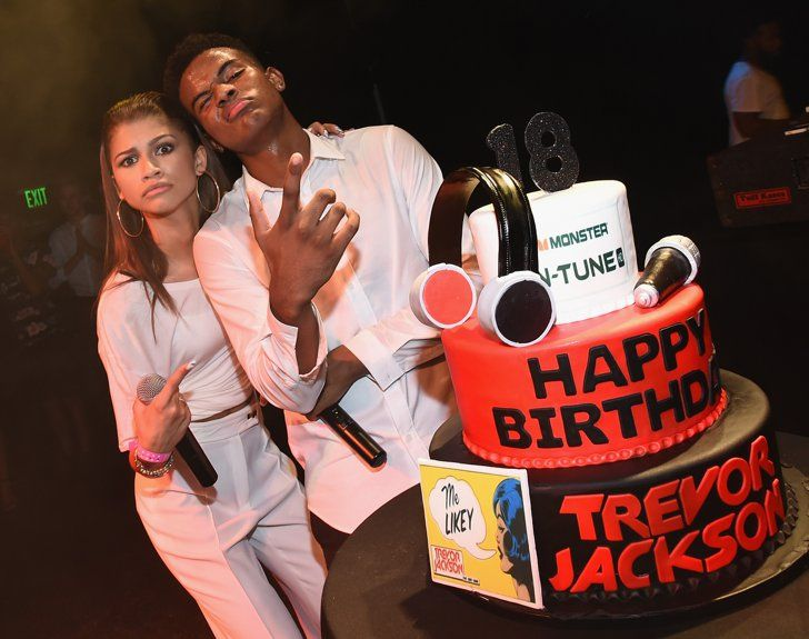 Pin for Later: Look Back on Zendaya's Evolution From Disney Star to Hollywood Icon August 2014 She and friend Trevor Jackson got silly at his 18th birthday party.
