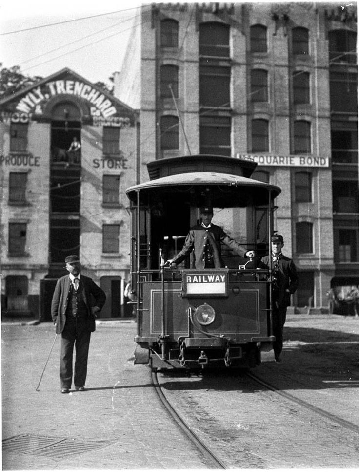 Tram to Central Station at Circular Quay, Sydney c1898