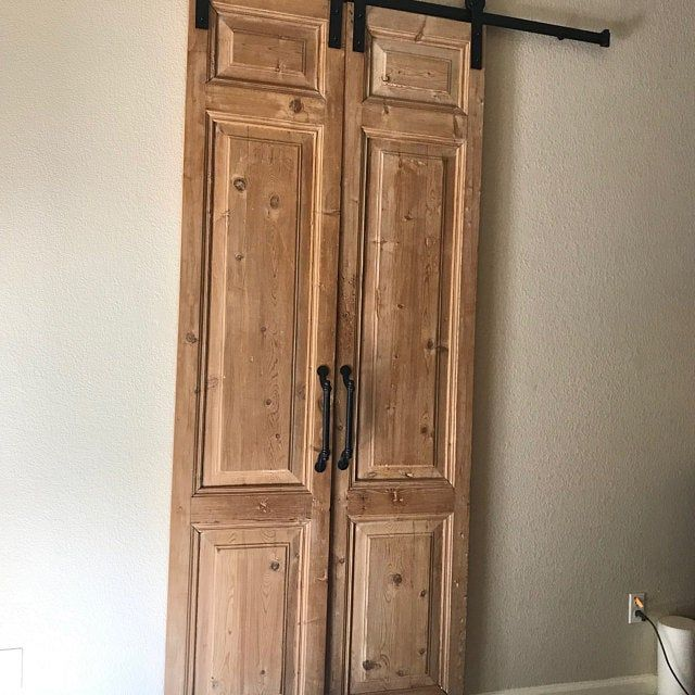 Whitewashed Solid Cypress Sliding Chevron Barn Doors Built To Order Sliding French Doors Antique French Doors Interior Barn Doors