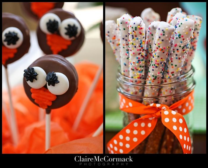 Twin Owls 1st Birthday Party - Kara's Party Ideas - The Place for All Things Party
