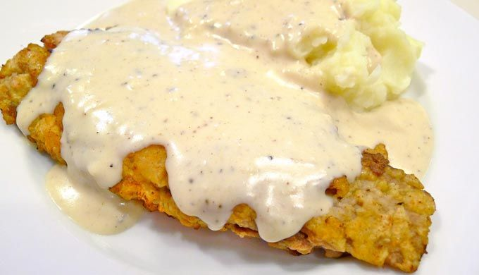 Texas Style Chicken Fried Steak with Cream Gravy