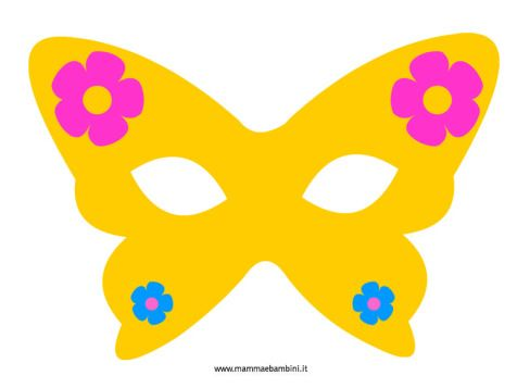 Mascherina Carnevale a farfalla in festa carnevale