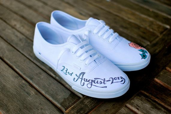 Custom Wedding Vans with your name wedding date by BStreetShoes, $149.00