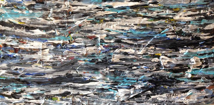 Troubled Water - 12x24 - Mixed Media on canvas - artist Jean Morrow