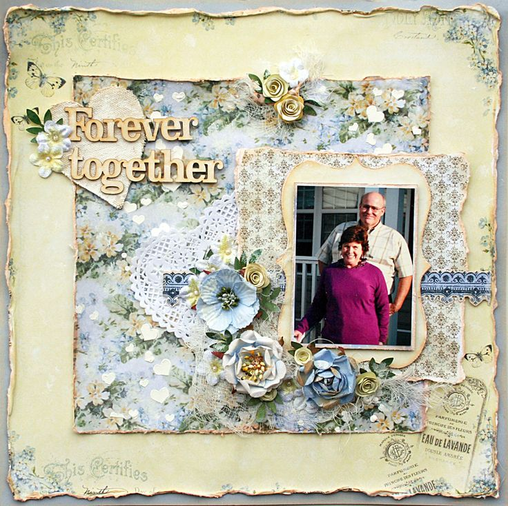 Forever Together**Flying Unicorn Feb KOM** - Scrapbook.com Kaisercraft - Key to My Heart Collection