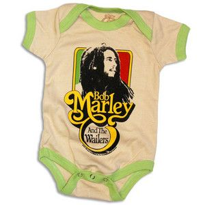 Bob Marley Baby & Kids Stuff - Bob Marley and the Wailers Catch A Fire Ringer One-Piece.Michael would like this. $23.00