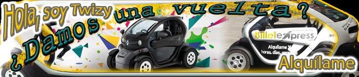 Billetexpress.com Alquiler del coche Electrico del momento ideal para conocer Madrid y Eliza tus visitas a clientes, no pagas en zona azul ni verde. Alquiler por días por horas o semanas. Info en www.billetexpress.com 0034644637900
