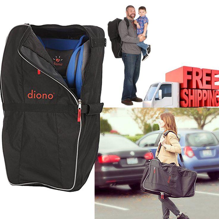 Car Seat Travel Bag Black Shoulder Backpack Waterproof Storage Organizer