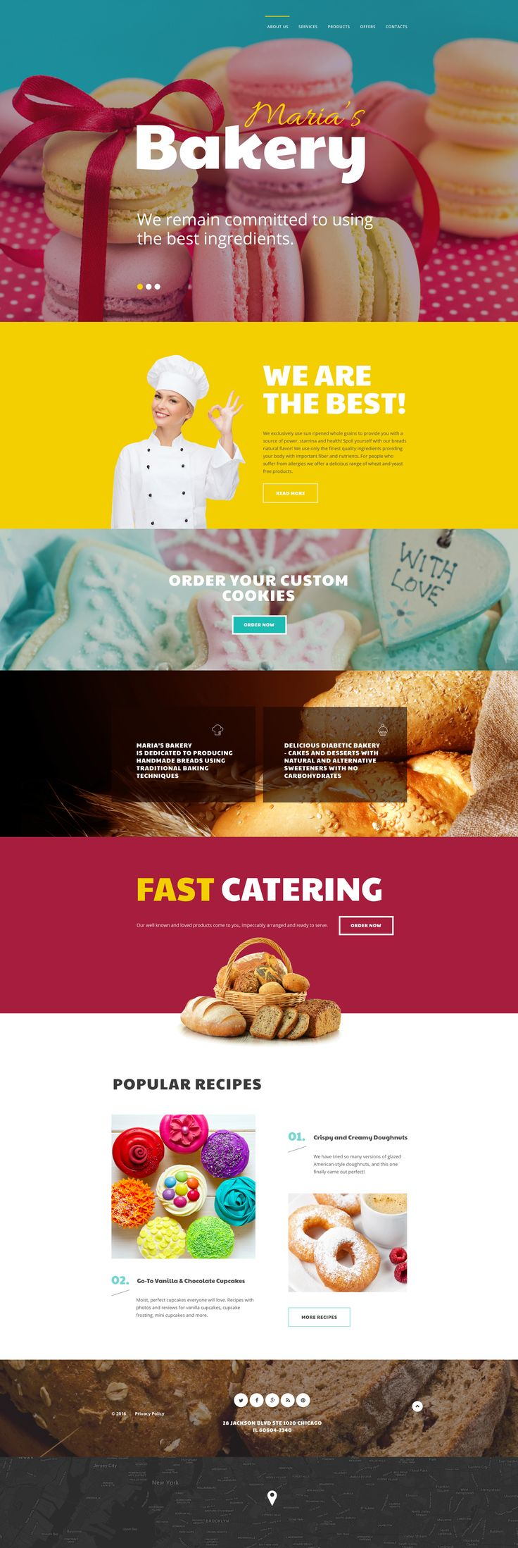 Bakery WebSite Template http://www.templatemonster.com/website-templates/maria-s-bakery-website-template-58701.html
