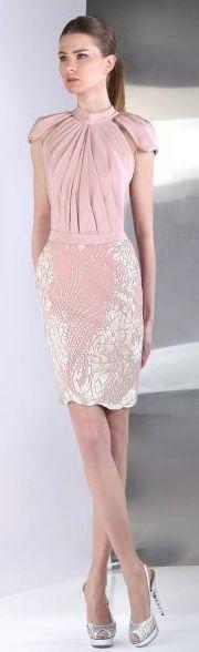 Precioso vestido de #dama en rosa / Gorgeous pink Tony Ward dress, ideal for #bridesmaids
