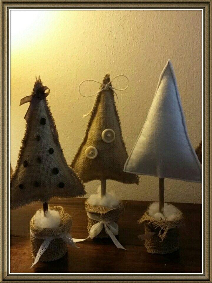 #alberi #alberelli #shabby #natale #tipicreazioni #juta