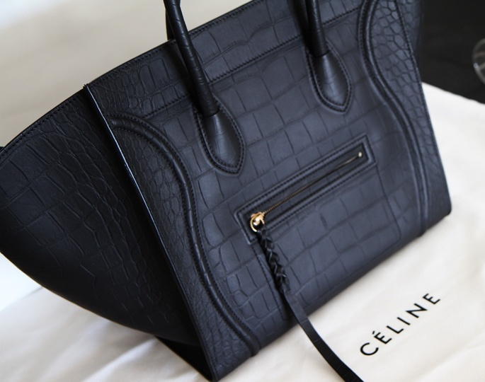 celine phantom bag croc