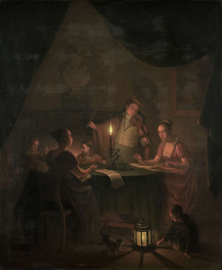 A Musical Party by Candlelight, Michiel Versteegh, , 1786 - 1820