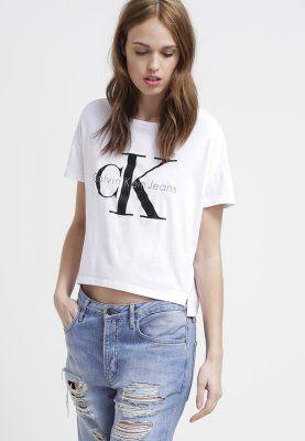 Calvin Klein Jeans T-Shirt print - bright white - Zalando.de