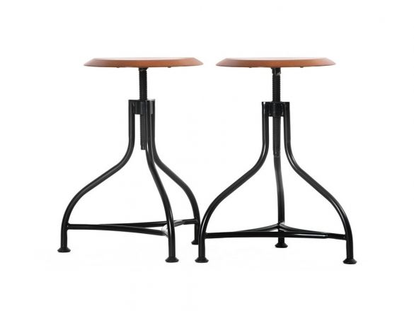 Nowoczesny Taboret Revolving Wood -Krzesła-taborety-Customform
