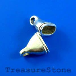 #Cone, silver-colored, 14x16mm. #TreasureStone Beads Edmonton.