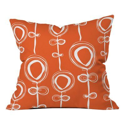 "DENY Designs Rachael Taylor Contemporary Throw Pillow Size: 18"" H x 18"" W"
