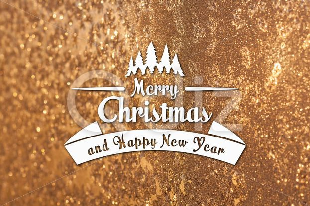 Qdiz Stock Photos Merry Christmas and New Year greeting card,  #background #blur #blurred #card #celebration #Christmas #eve #frozen #gold #greeting #holiday #Merry #new #postcard #retro #season #snowflake #traditional #vintage #winter #xmas #year #yellow