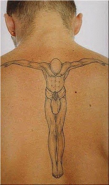 David beckham tattoos jesus this