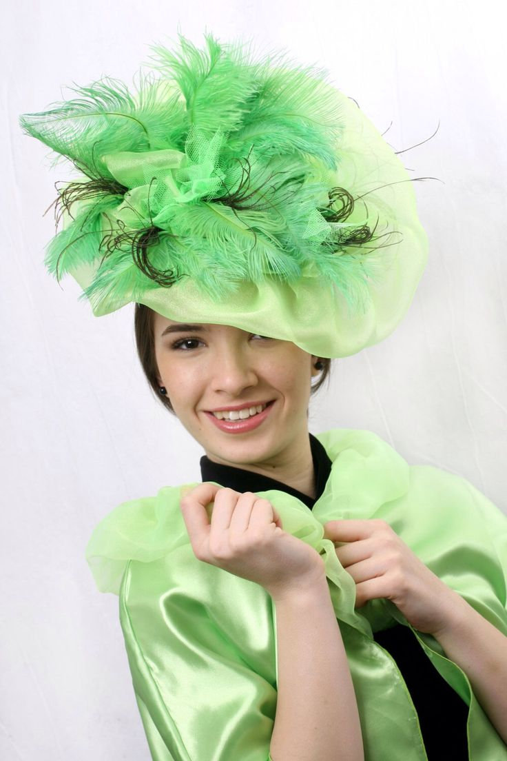 FREE SHIPPING! Green fascinator hat, Kentucky derby hat, Mint fascinator, Royal ascot fascinator, Light green fascinator, couture headpiece by IrinaSardarevaHats on Etsy https://www.etsy.com/listing/229354481/free-shipping-green-fascinator-hat
