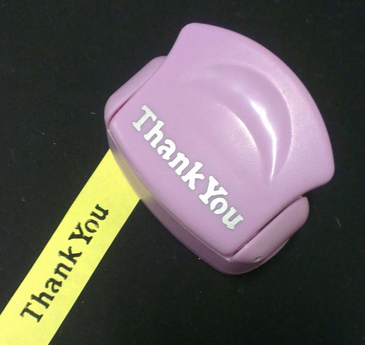 Thank You - Small - Border-Style - Paper Punch