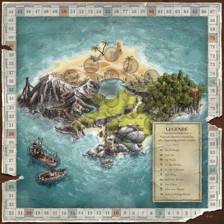 Die Insel-Expedition — board game design by Markus Günther, via Behance