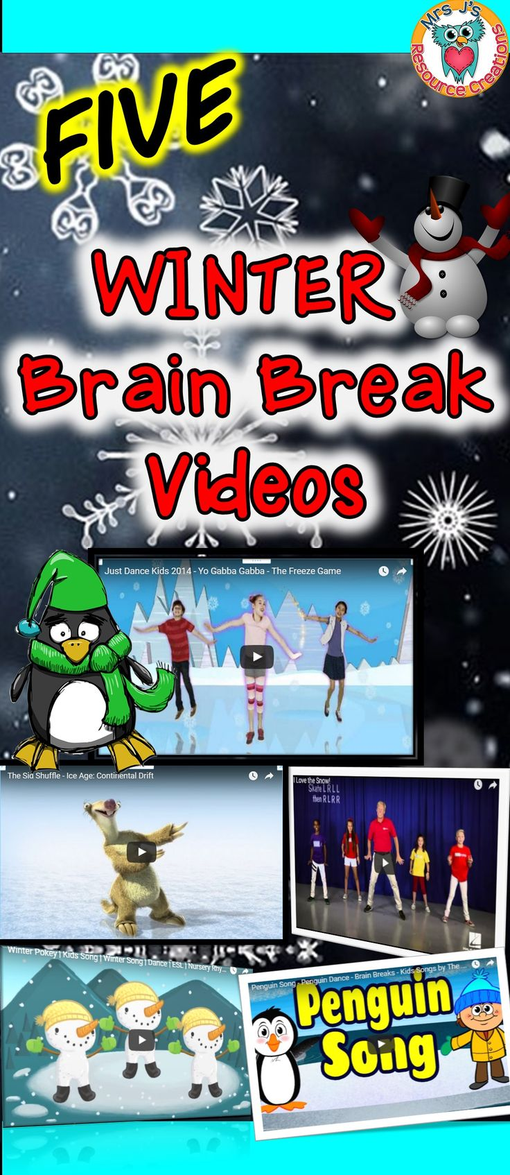 Winter Brain Breaks for the Classroom!