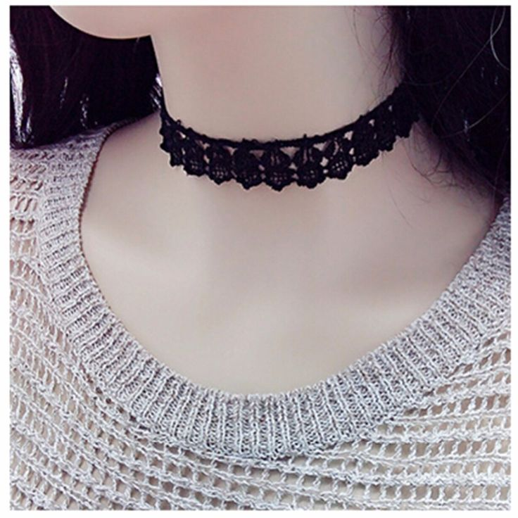 761 New 2016 Cheap Summer Men Bijoux Black Love LaceTattoo Choker Necklace For Women Chain Jewelry Gift One Direction Exo