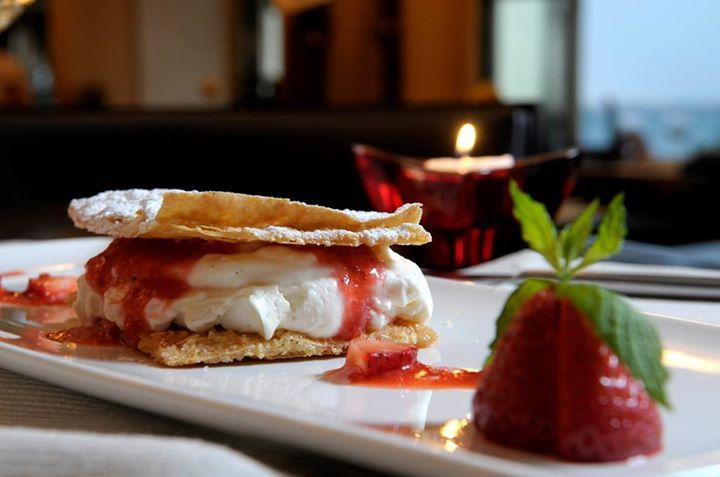 On your to-do list: Our always-appreciated mille feuille with fresh strawberries!   #daioshotel #gastronomy