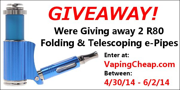 Sharing another free giveaway!  Enter to win a R80 folding and telescopic e-pipe at VapingCheap.com