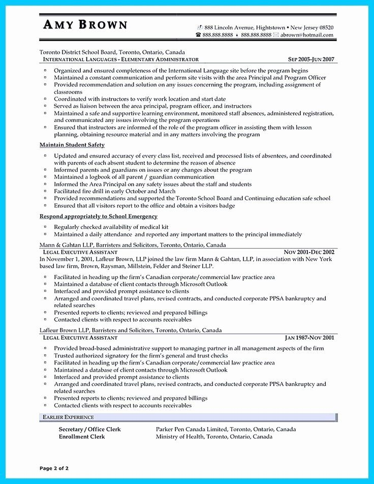 C Level Executive assistant Resume Inspirational In
