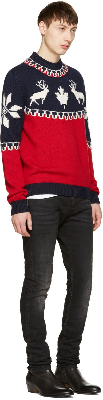 Dsquared2 - Tricolor Reindeer Sweater