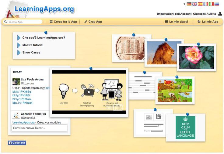 LearningApps.org è un'applicazione gratuita molto intuitiva che permette di creare accattivanti moduli interattivi per facilitare i processi di apprendimento.