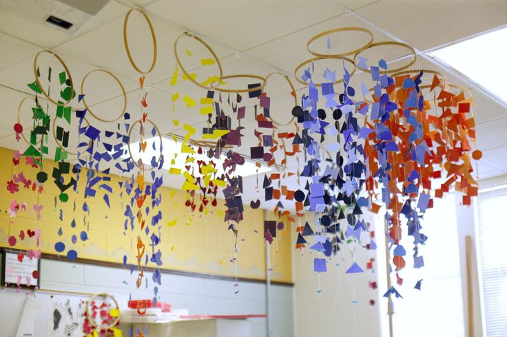 Ombre inspired hanging installation- A study of color, tints and shades.